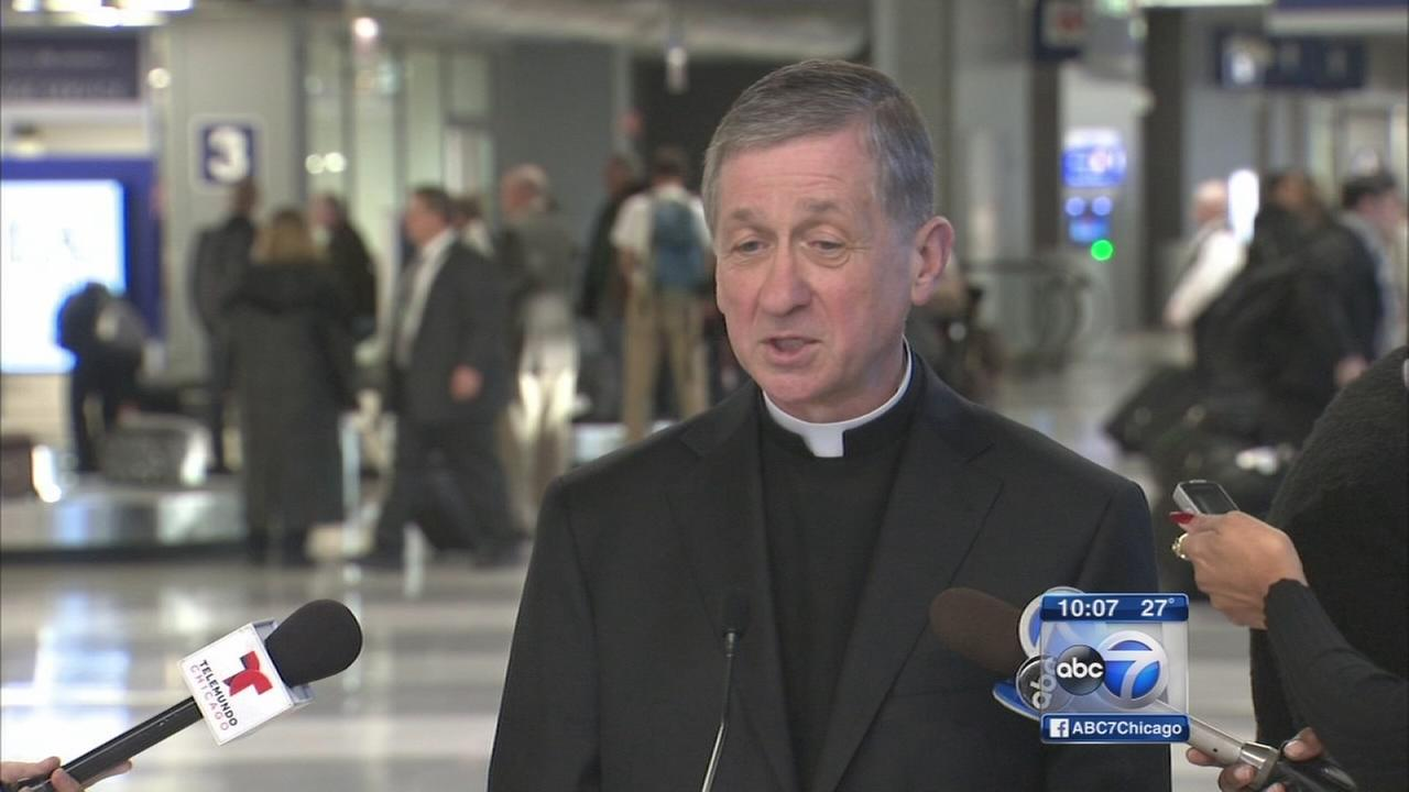 Archbishop-designate Blase Cupich arrives in Chicago