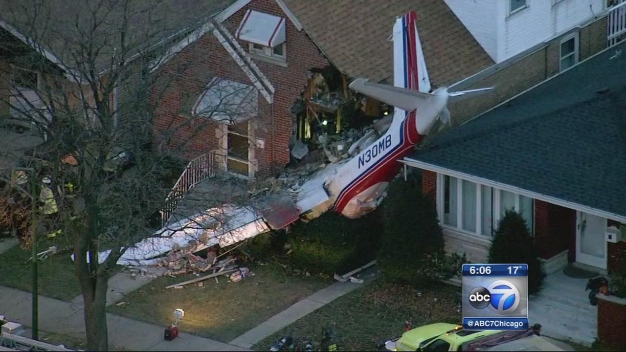 Chicago Plane Crashes Into Home Near Midway Pilot Killed