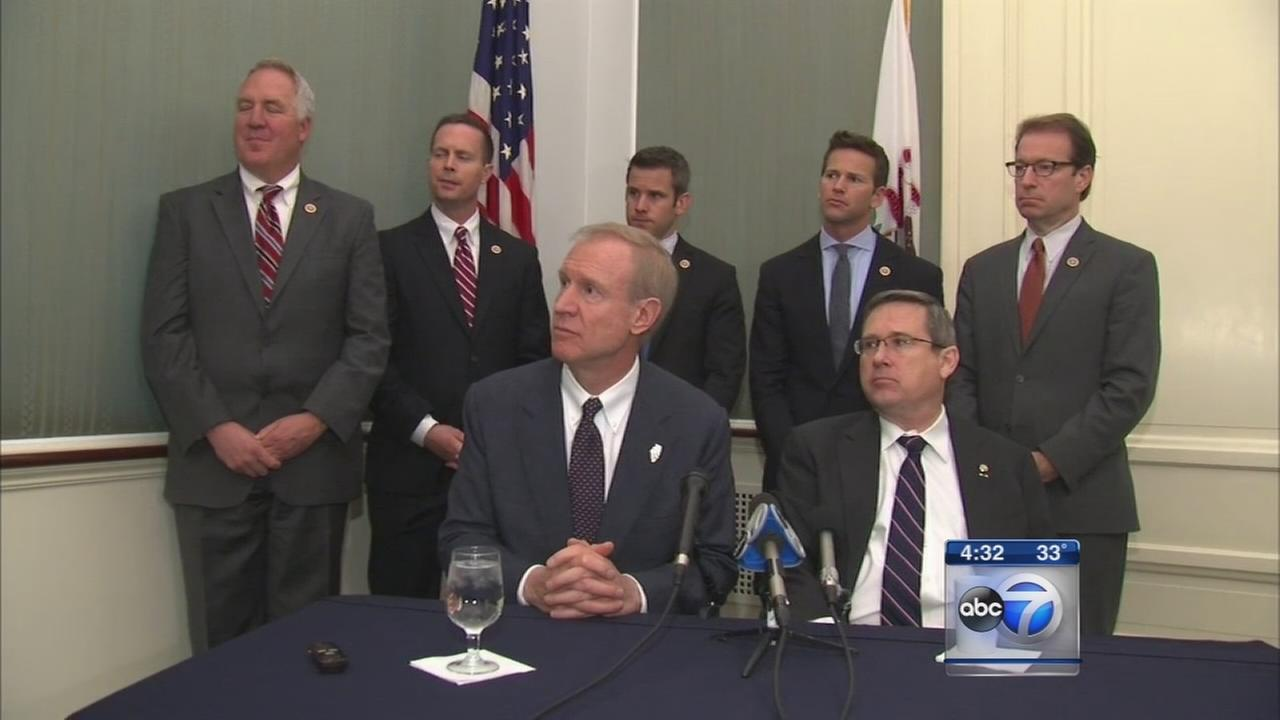 Rauner visits Illinois lawmakers in Washington