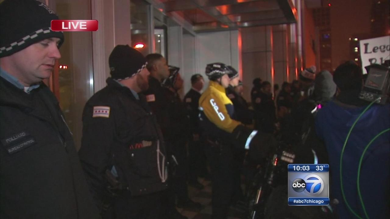 Protestors arrested on 2nd day of protests in Chicago