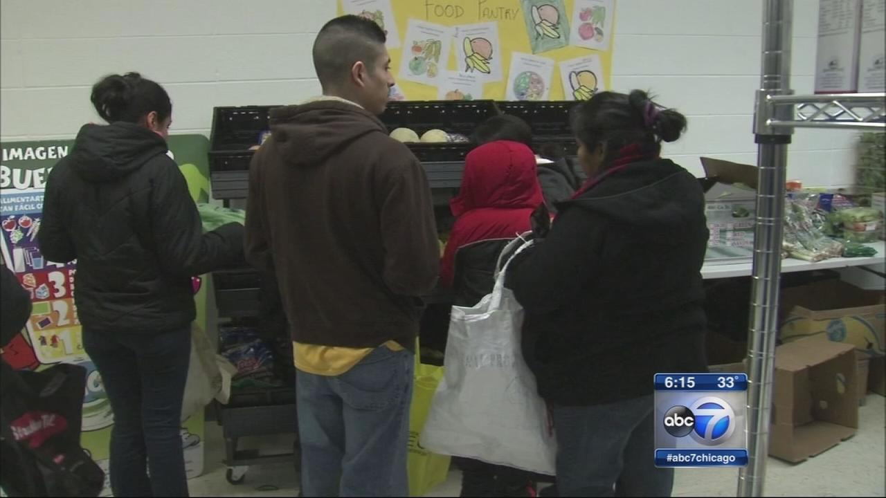 West Chicago classroom turned into food pantry