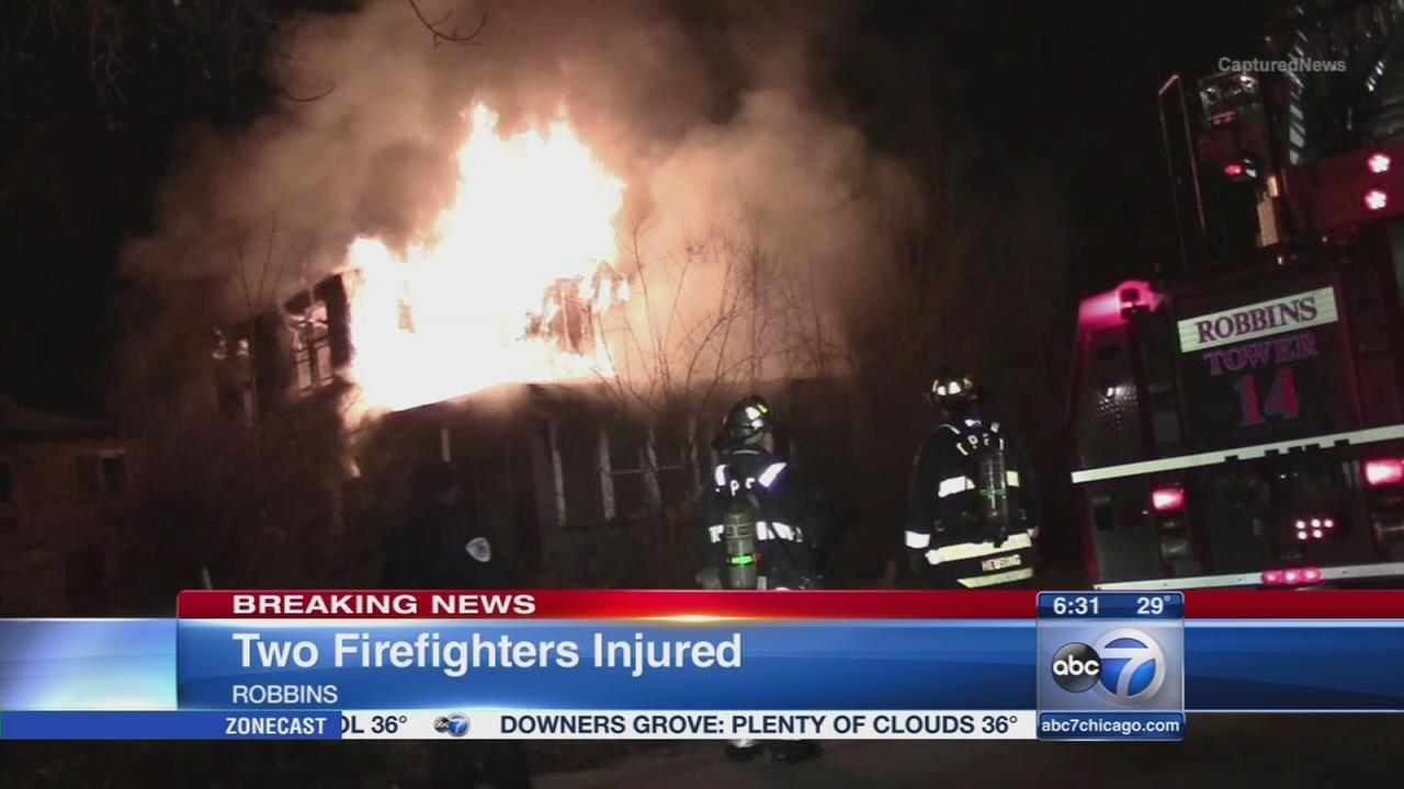 2 firefighters injured in Robins fire