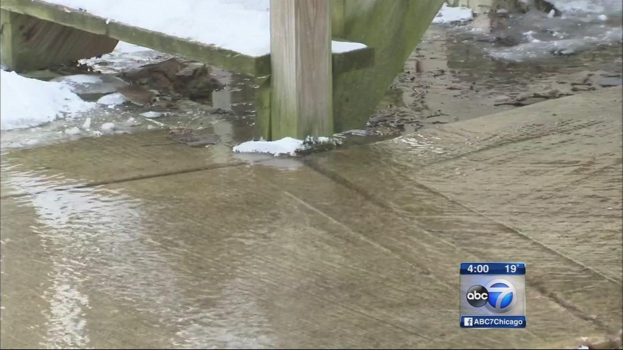 Pipes burst with freeze, thaw