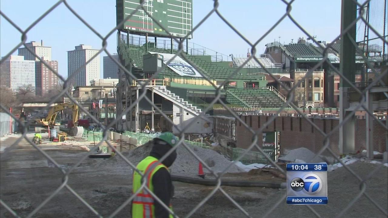 Wrigley Field bleachers will not be ready for opening day