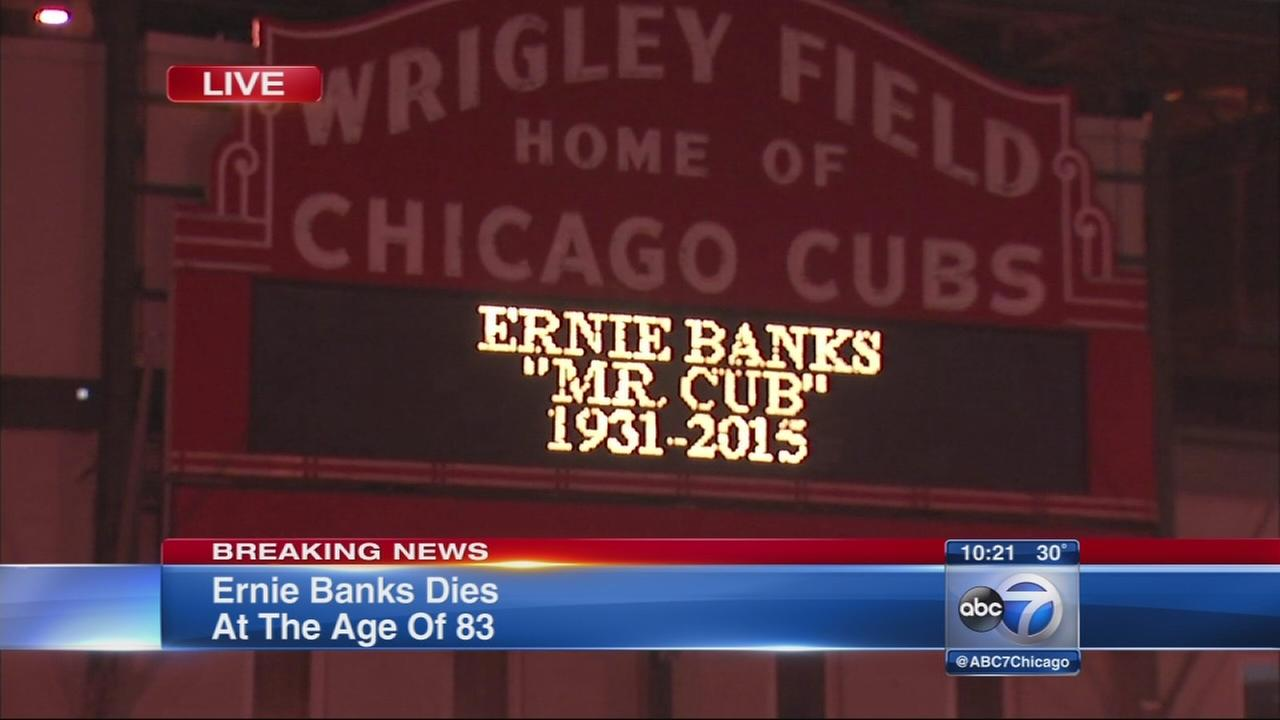 Ernie Banks dies