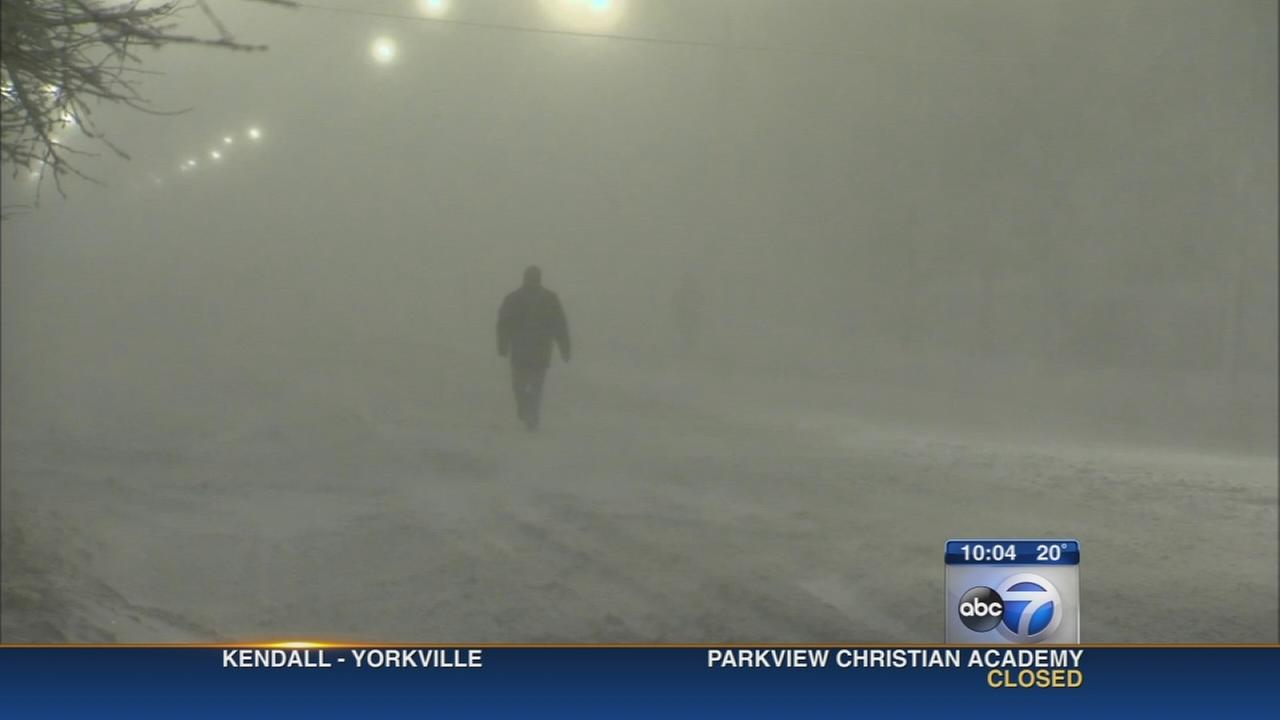 Winter storm causing school closings, travel hazards