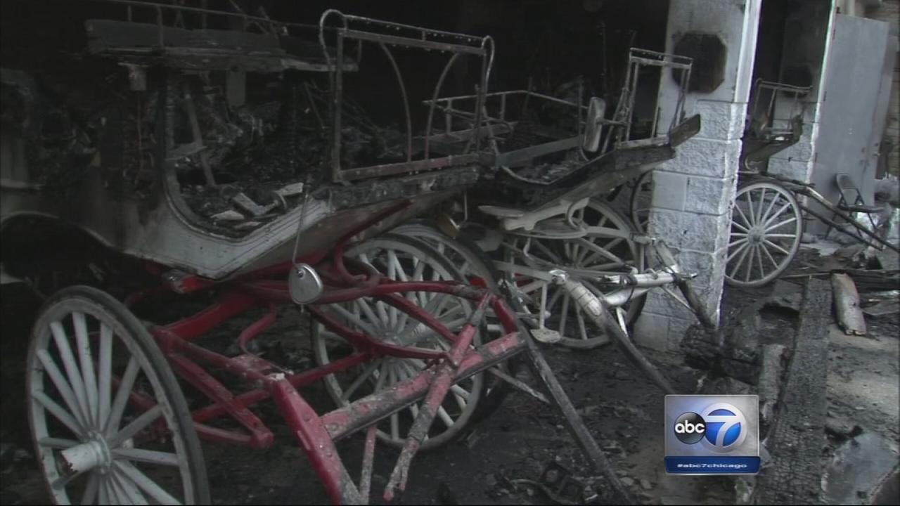12 carriages destroyed in Old Town stable fire