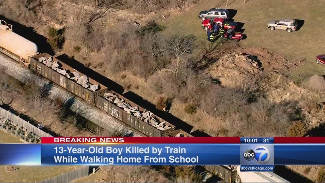 Boy fatally struck by freight train