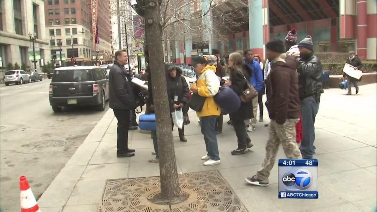 Fr. Pfleger leads Thompson Center protest over Rauner budget