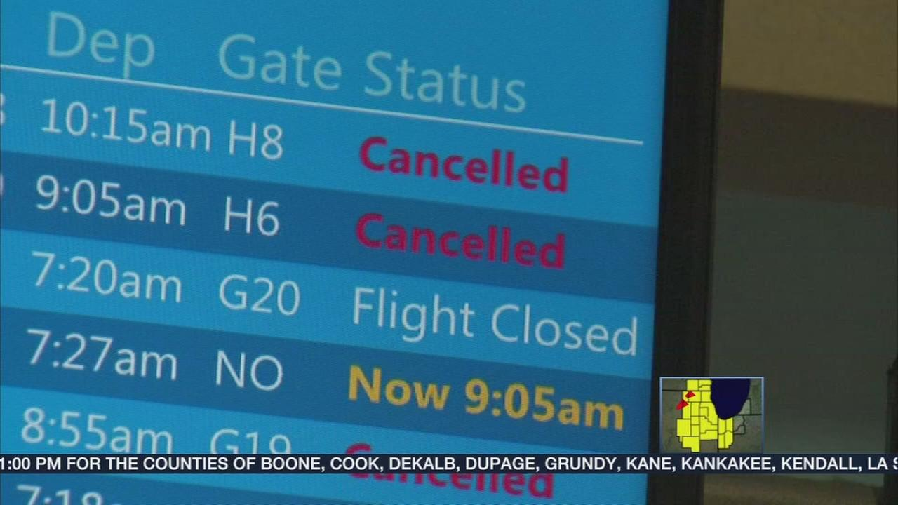 Severe weather causes travel headaches, damage