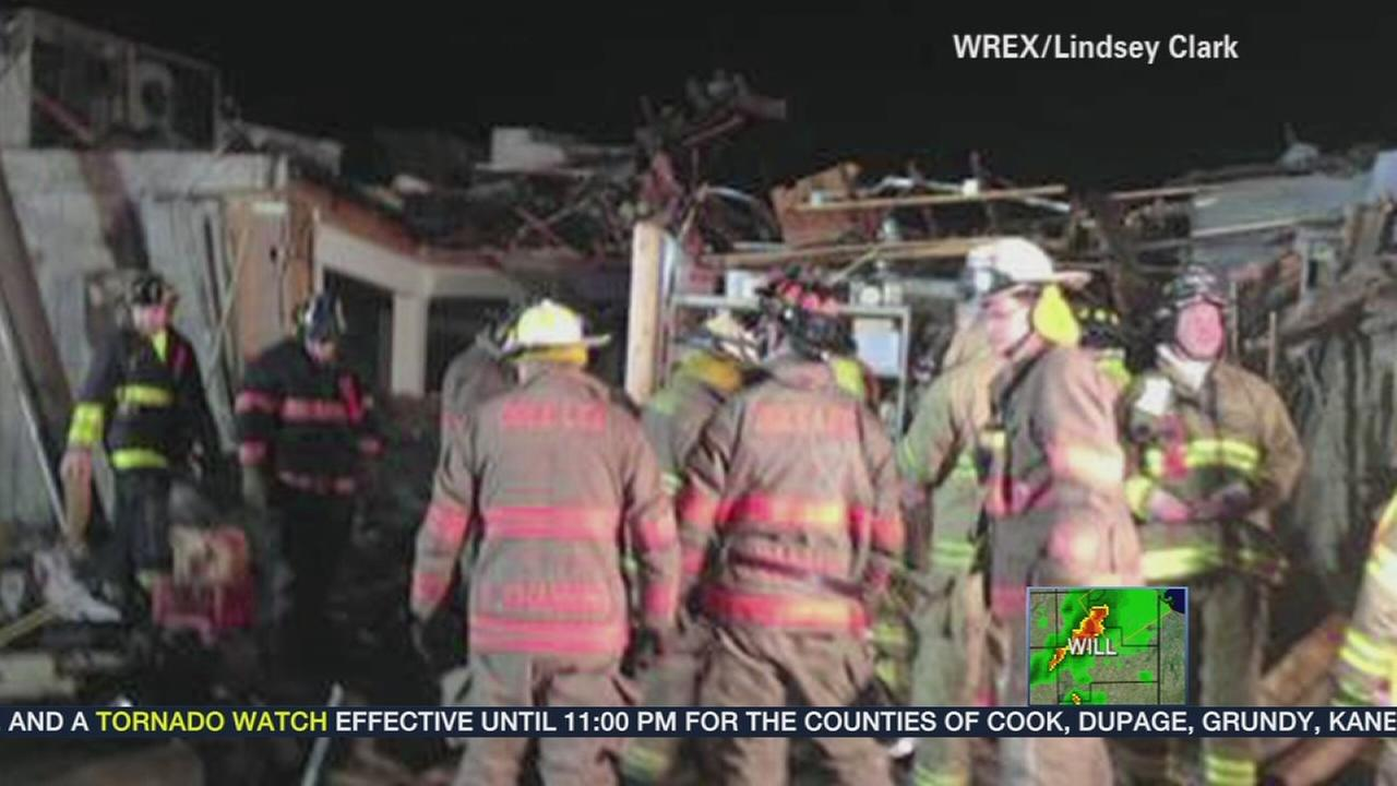 12 people rescued from restaurant storm cellar