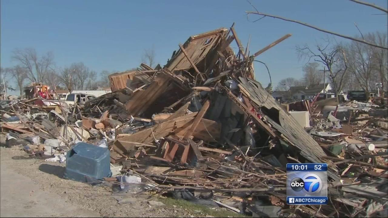 Tornado cleanup begins in Fairdale
