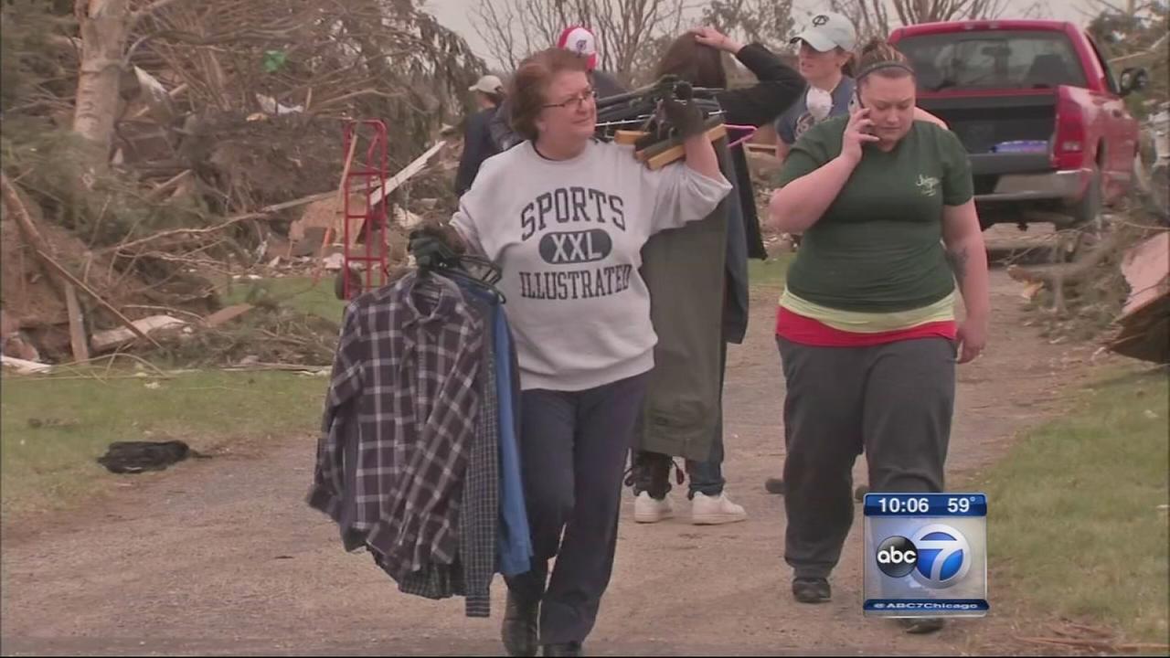 Tornado victims in Rochelle, Fairdale look to rebuild