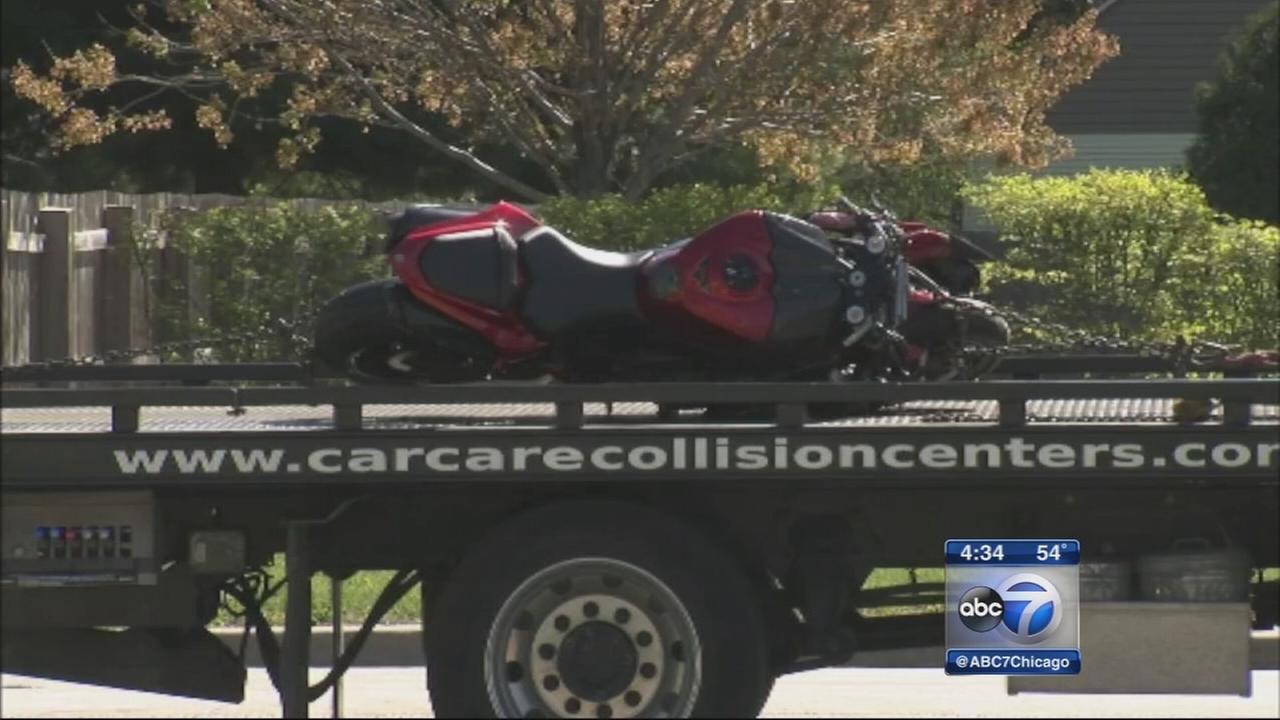 Motorcycle strikes, kills pedestrian