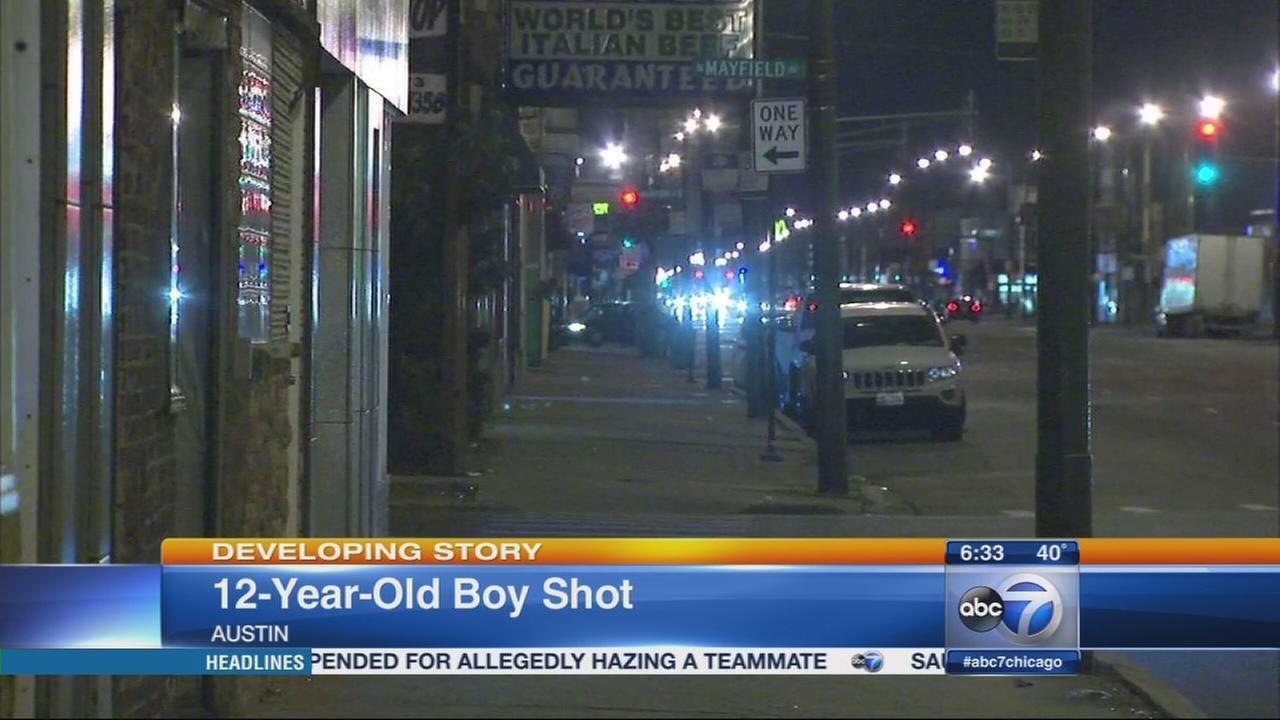 Boy, 12, shot in Austin