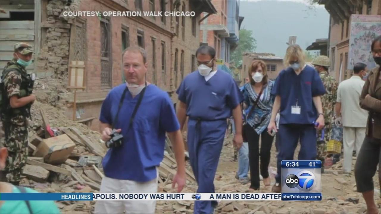 Chicago doctors treat Nepal earthquake victims
