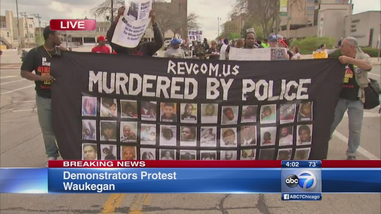 Group protests Zion shooting decision