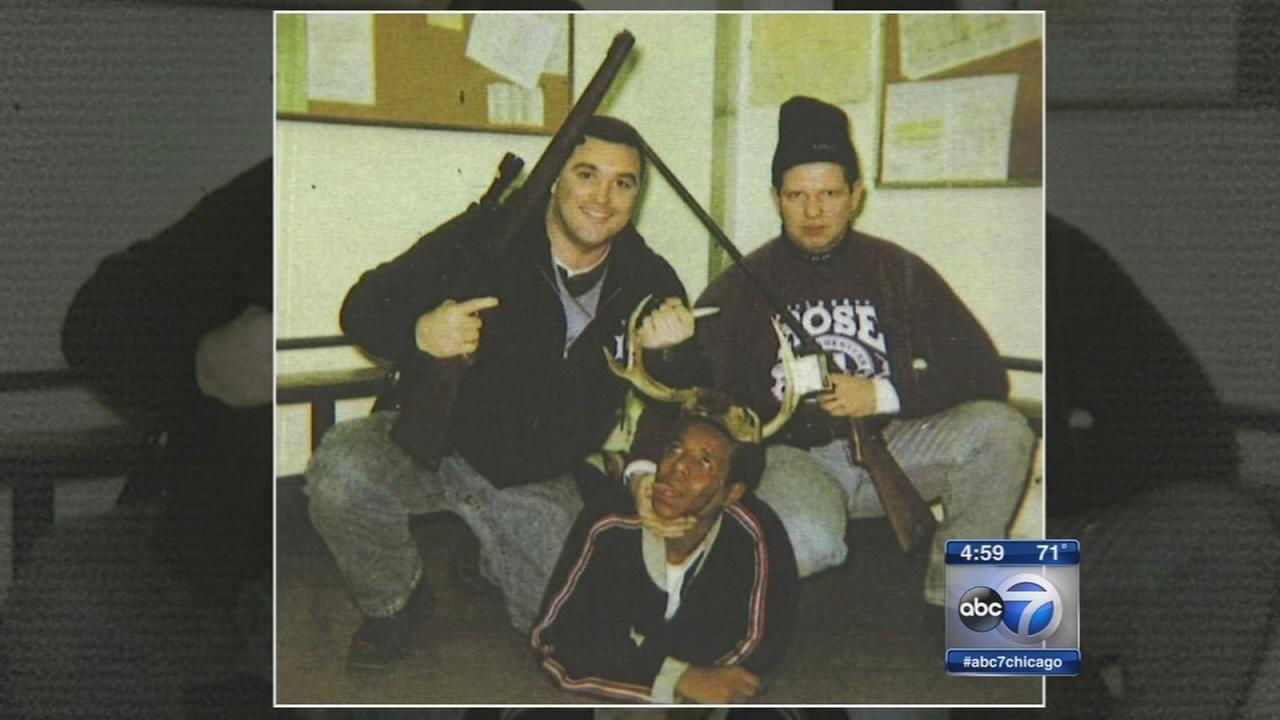 Chicago cops posed for photo with black man wearing antlers