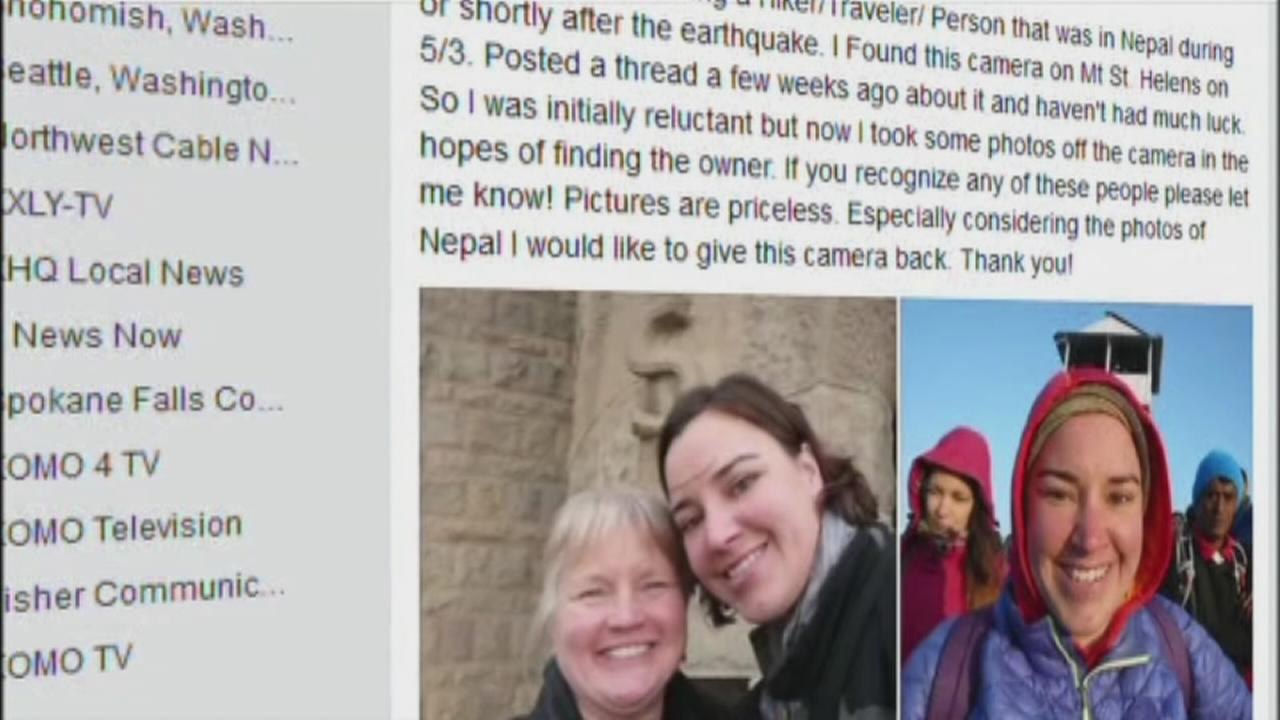 Man finds camera from Nepal on Mt. St. Helens, returns it to earthquake survivor