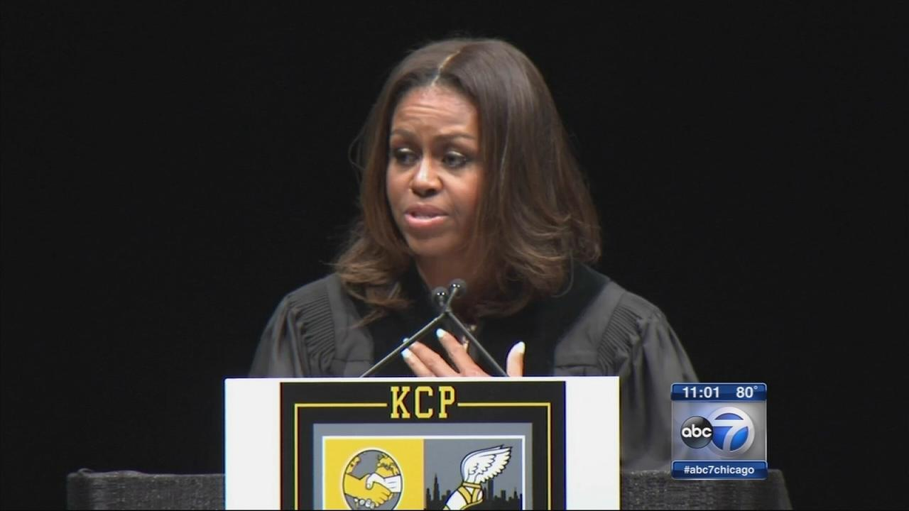 First lady speaks to Chicago graduates