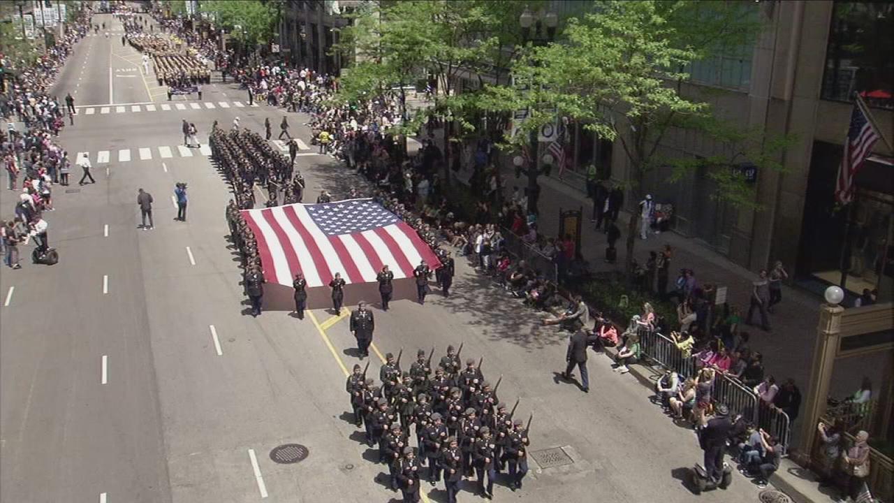 abc7 broadcast of the memorial day parade abc7chicagocom