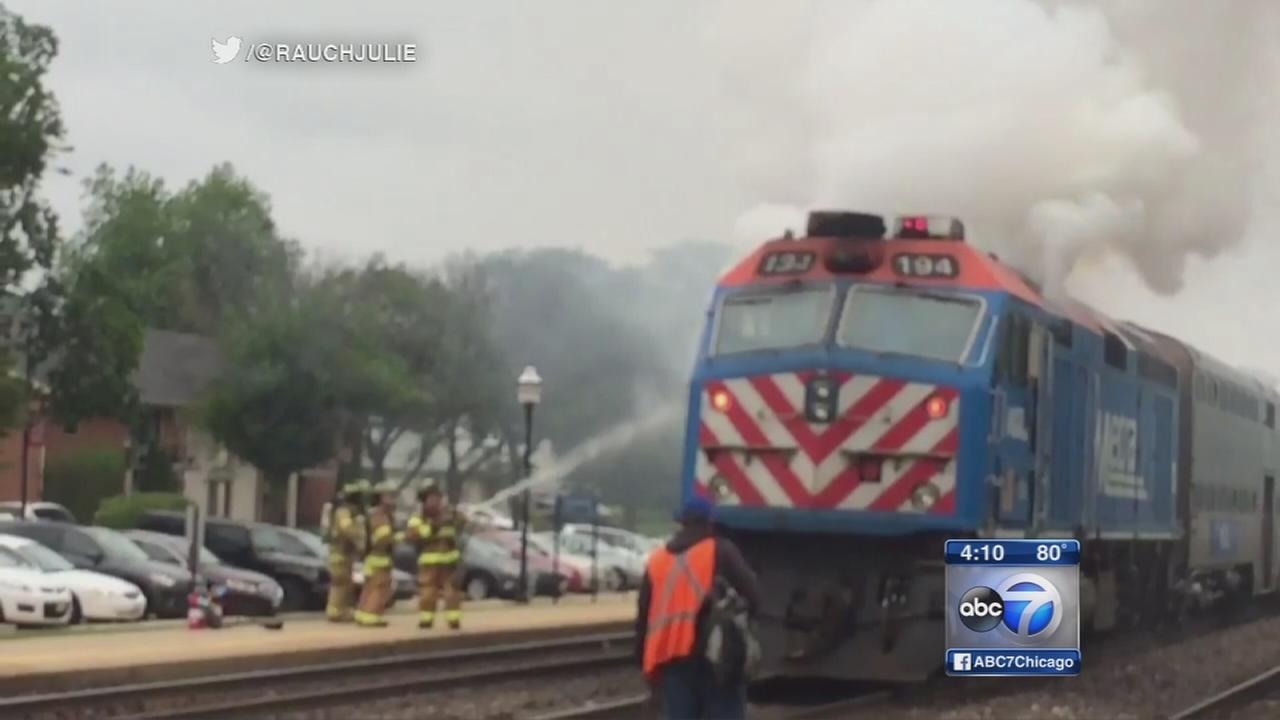 Fire on Metra BNSF train delays commute