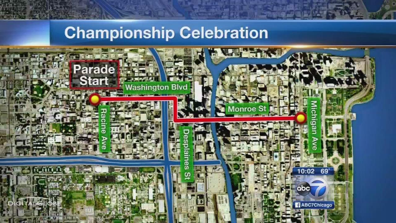 Blackhawks parade, rally preparations underway