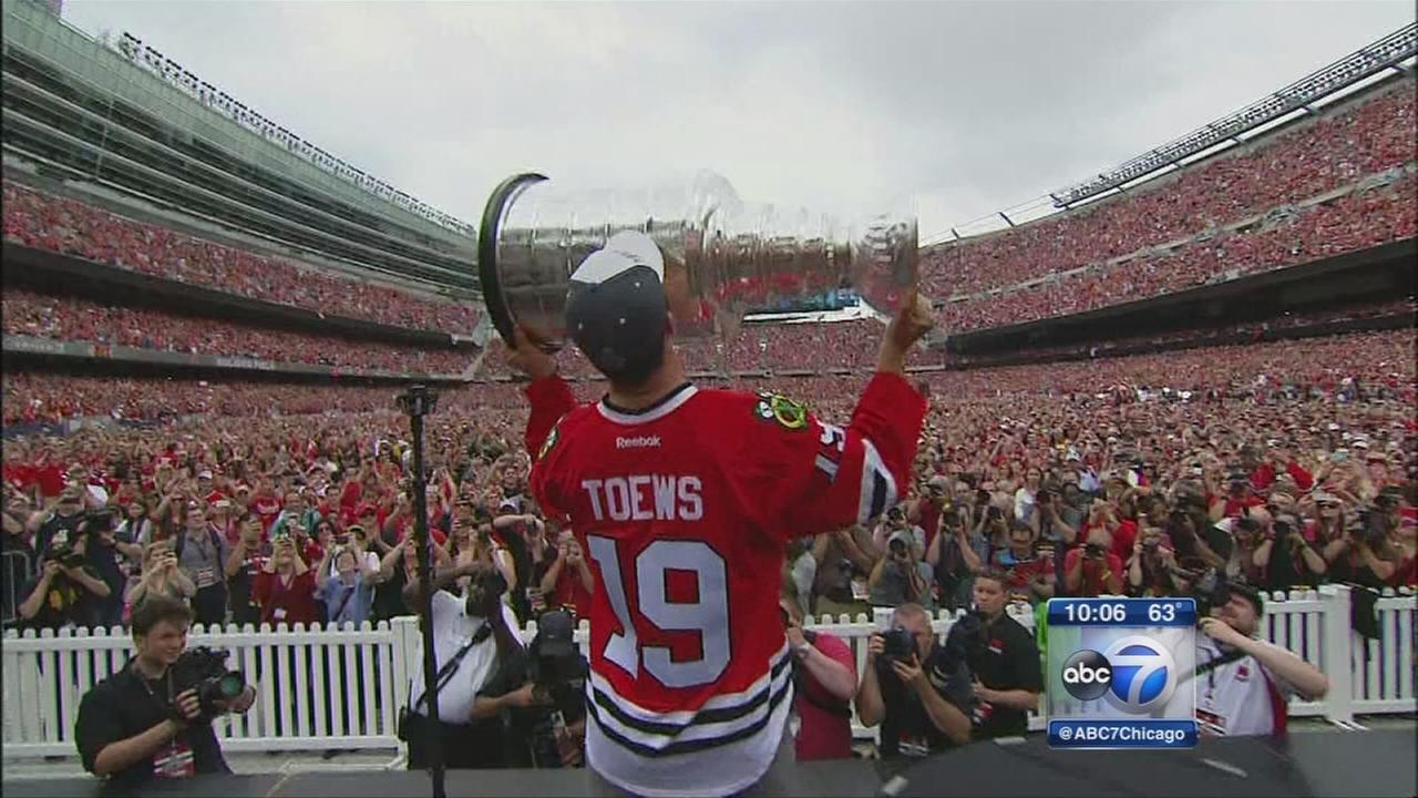 Chicago Blackhawks Parade Rally Celebrate Stanley Cup