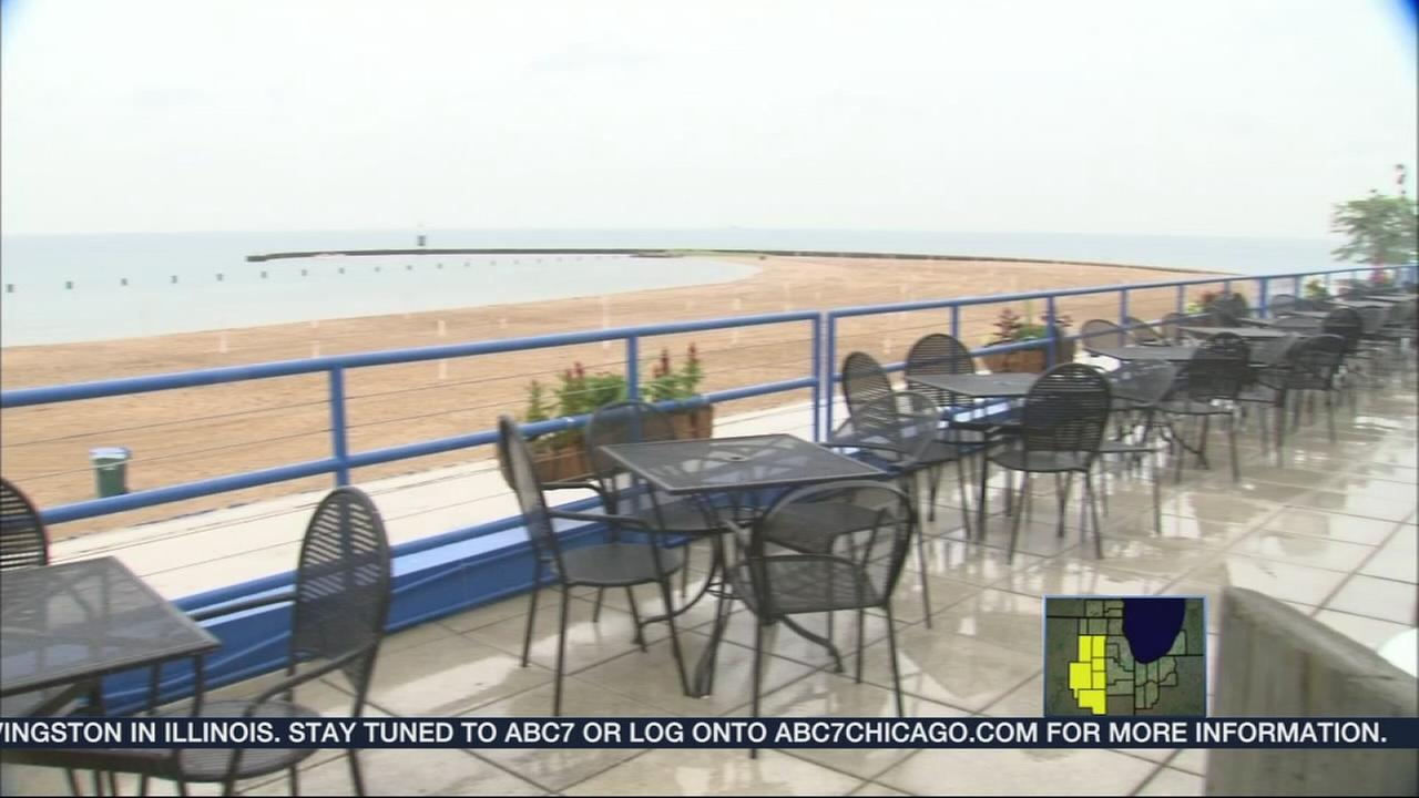 Rain drowns out lakefront businesses