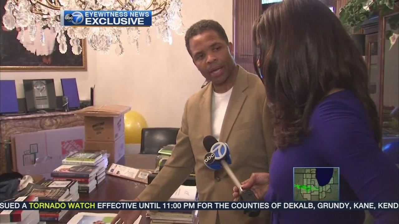 Jesse Jackson Jr returns home