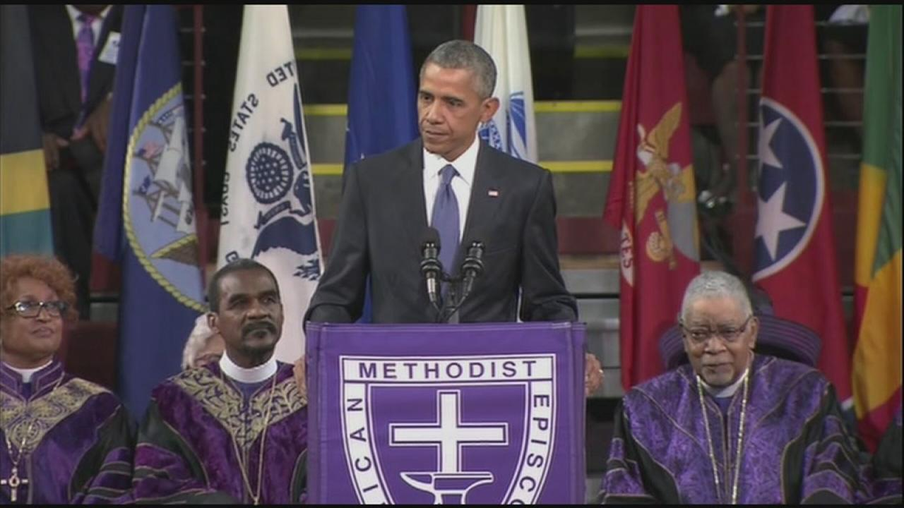 Obama delivers eulogy for Rev. Clementa Pinckney