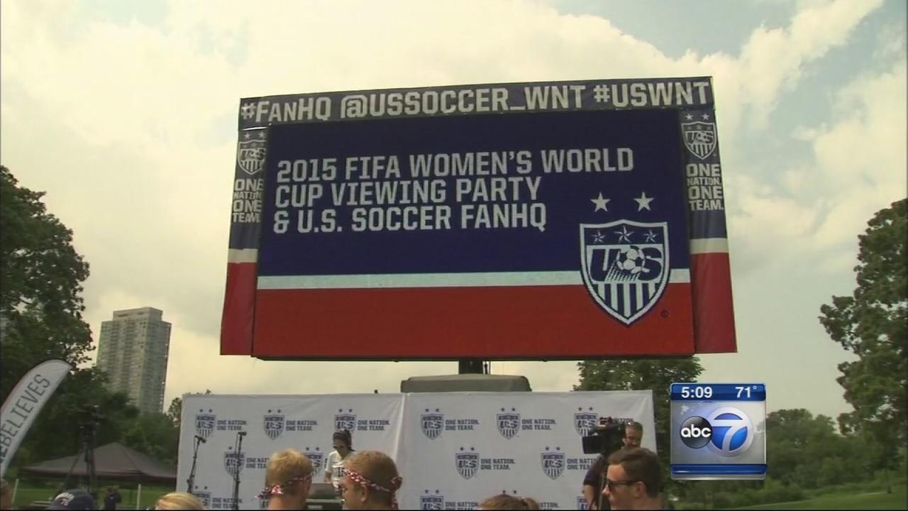 Womens World Cup party held in Lincoln Park