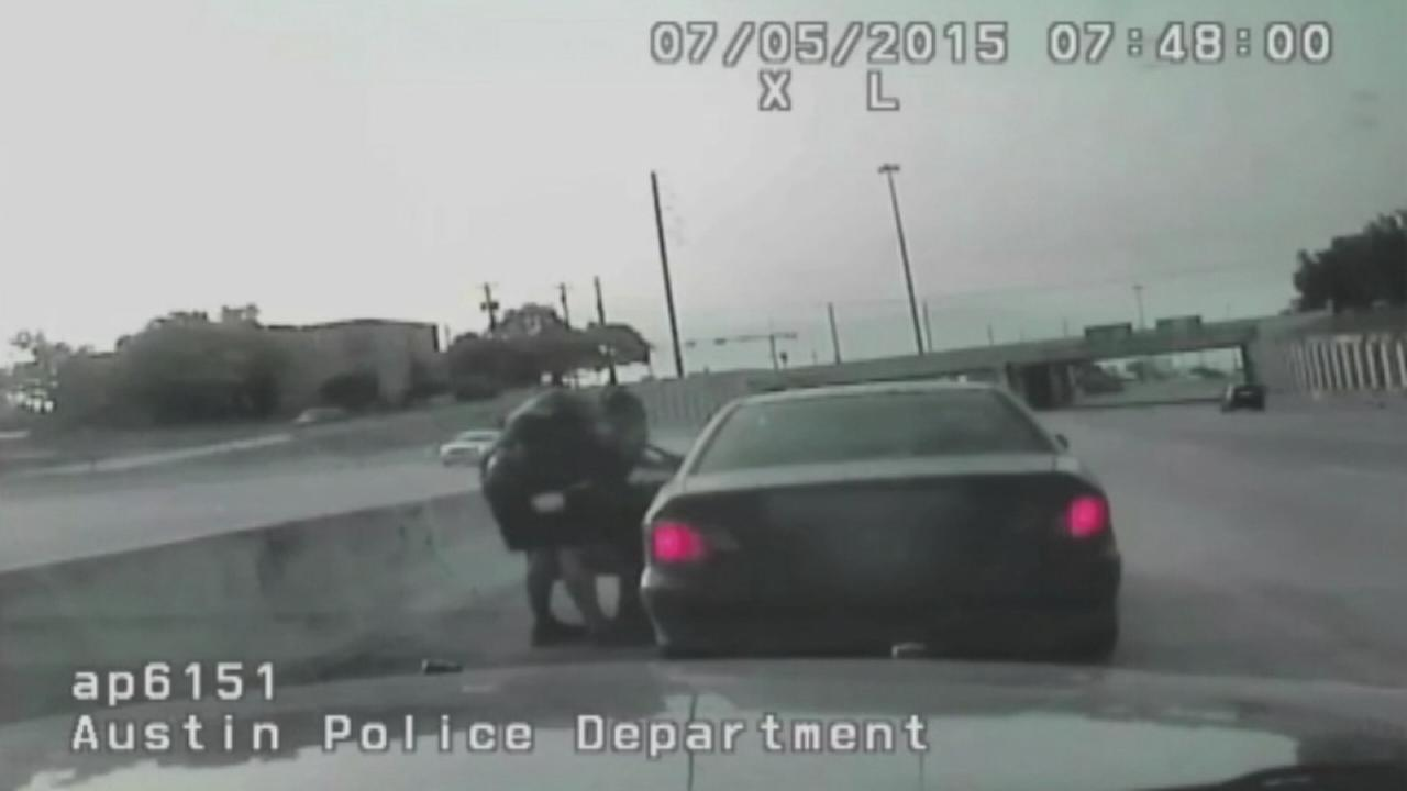 Caught on camera: Officer saves choking woman during traffic stop