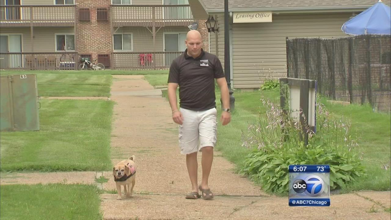 Veteran claims eviction due to service dog