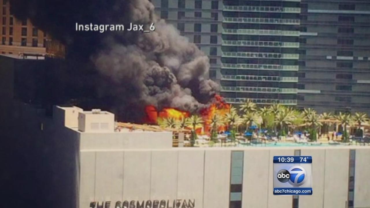 1 injured in pool deck fire at Cosmopolitan hotel in Las Vegas