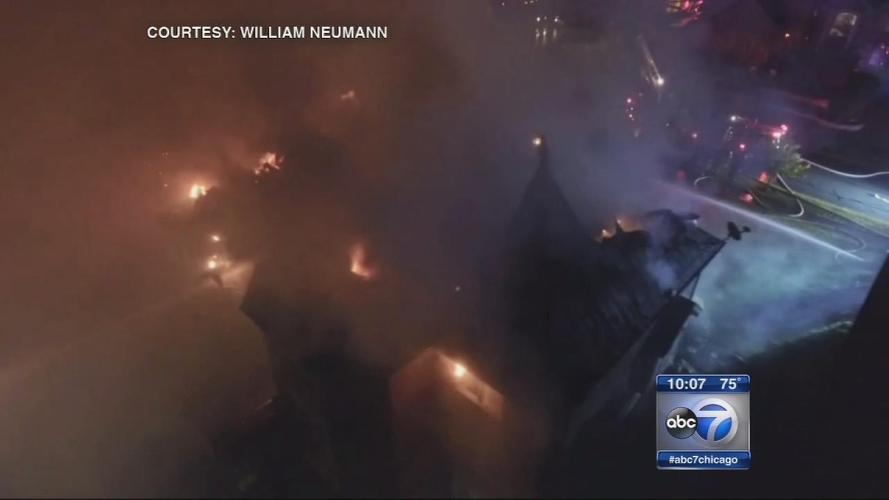 Orland Park firefighters use drone house blaze