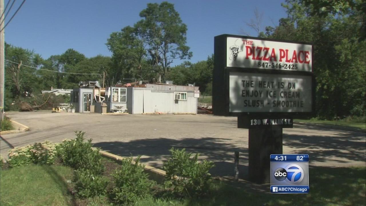 Round Lake restaurant, homes destroyed