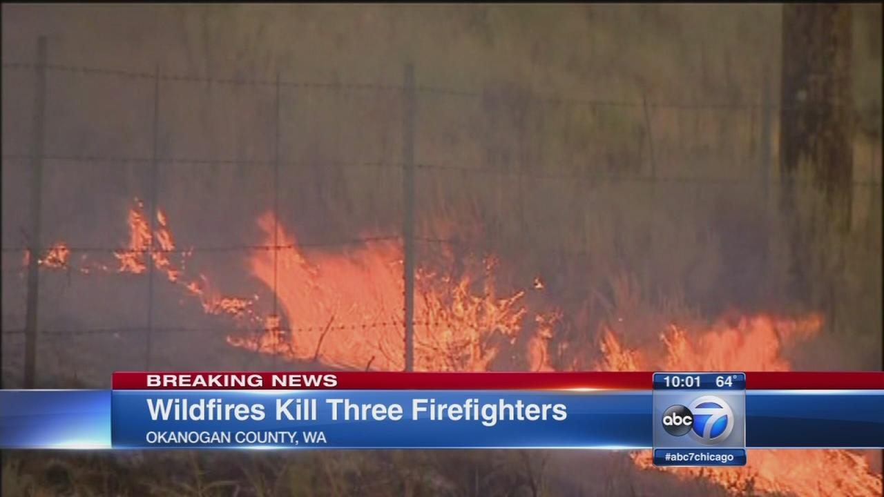 3 firefighters killed in wildfire