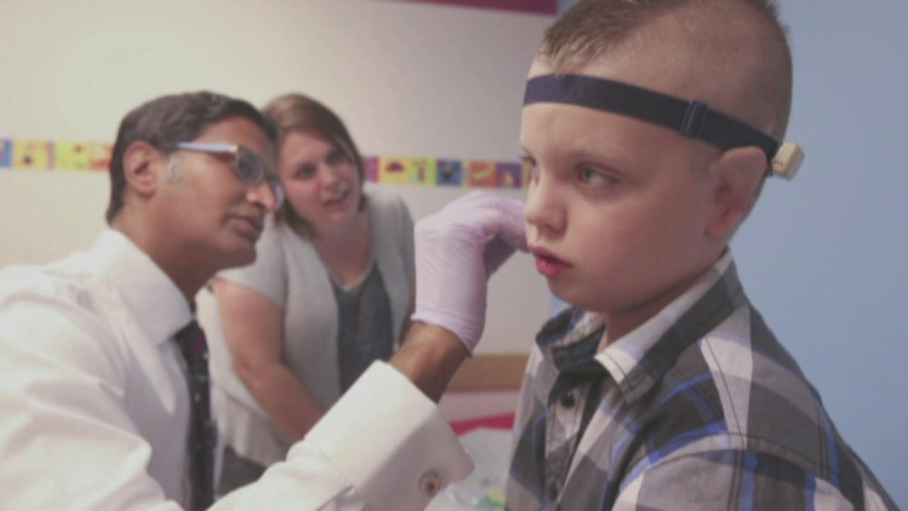 8-year-old boy receives new set of ears