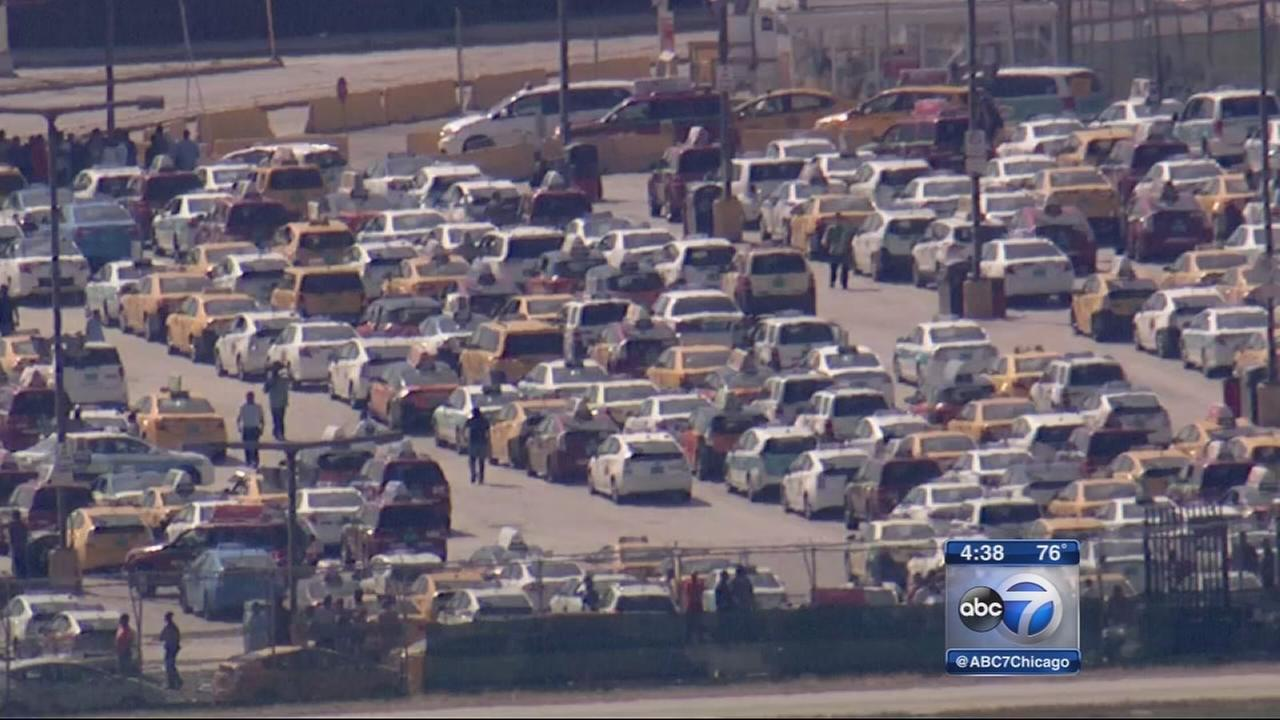 Cab protest at Chicago airports