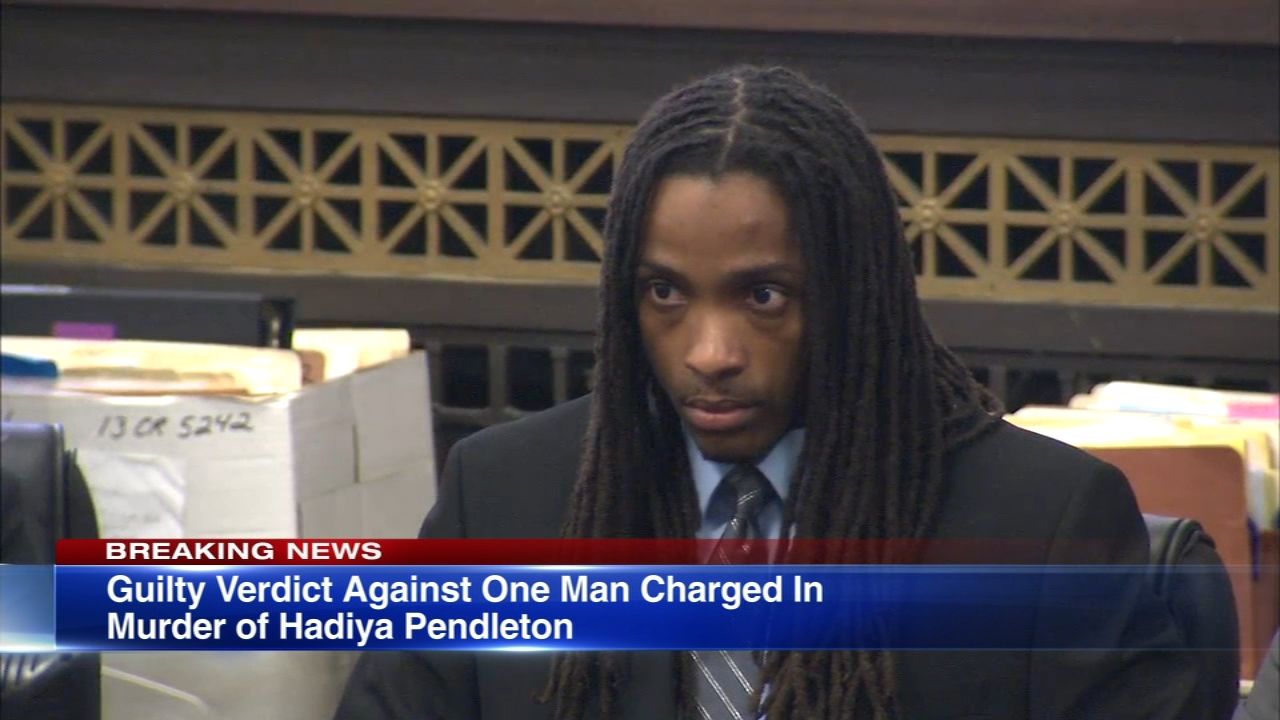 One of the men on trial for the 2013 murder of 15-year-old Hadiya Pendleton was found guilty by a jury Wednesday.