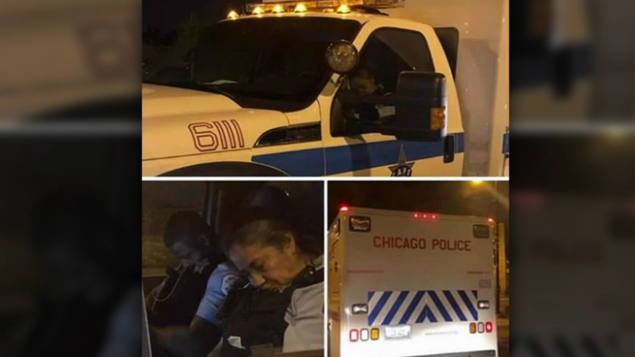 Chicago police say disciplinary action is being taken against two officers after photographs of them sleeping inside a police vehicle spread on social media.