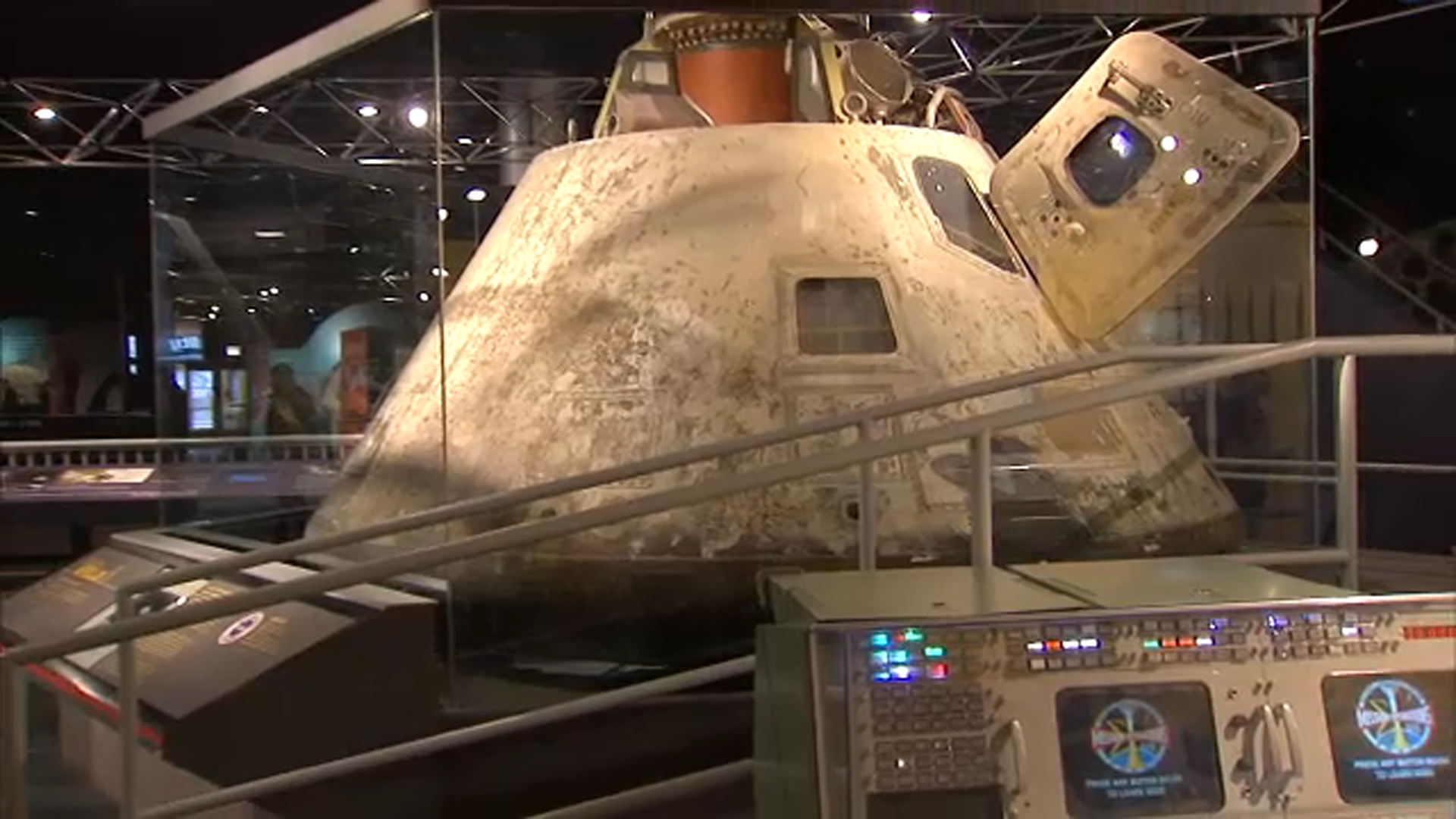 Fifty years ago, Apollo 8 astronauts became the first humans to orbit the moon. Now, a new interactive experience at the Museum of Science and Industry takes visitors back in time.