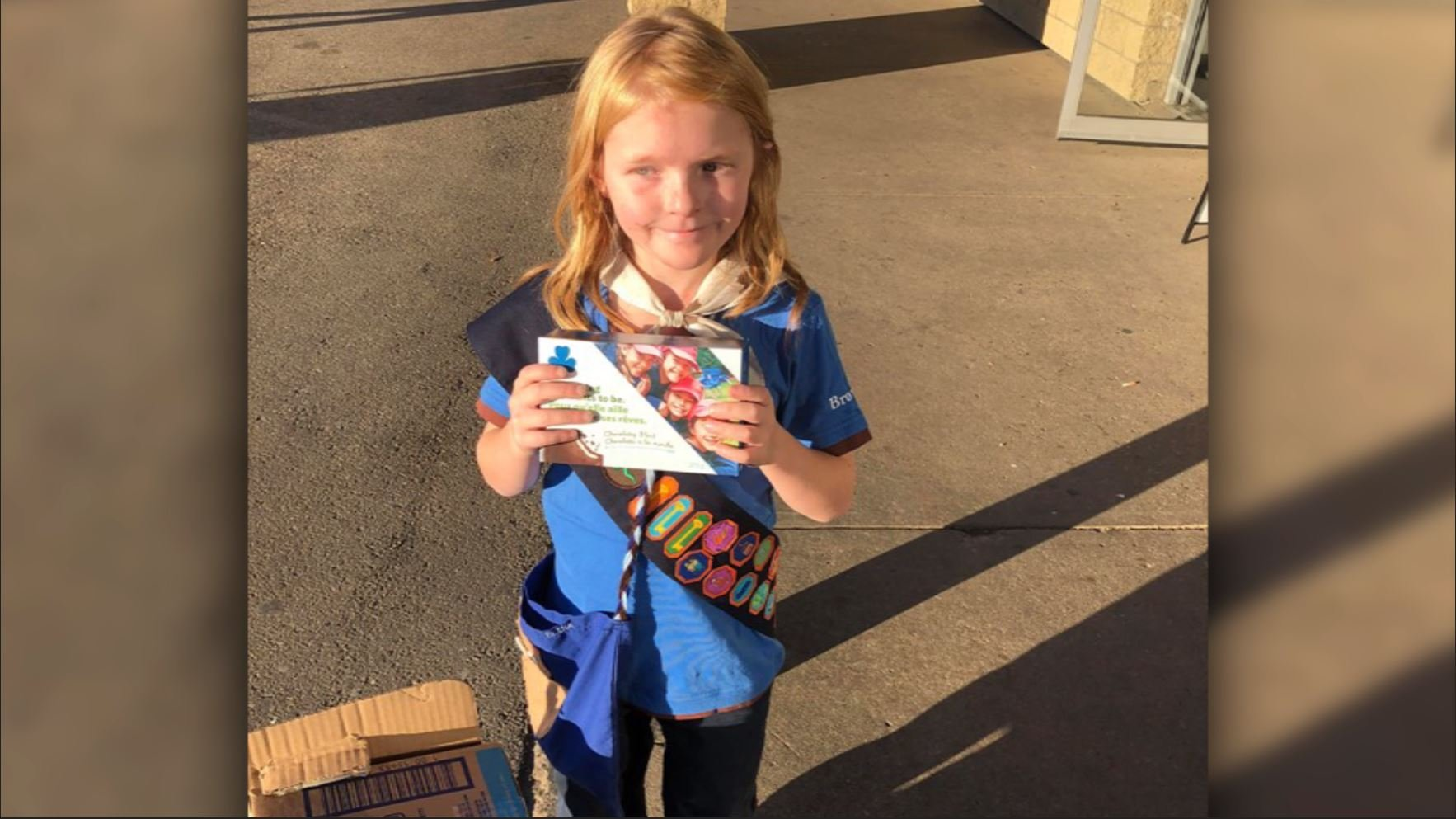 Elina Childs, 9, stood outside marijuana dispensary in Canada and sold all her cookies...Seann Childs 19 Oct 18