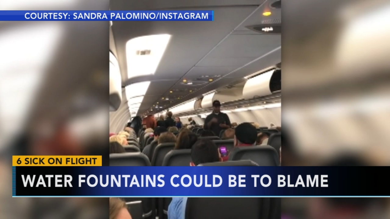 Water fountains possibly caused sickness on plane. Tamala Edwards reports during Action News Mornings on January 2, 2019.
