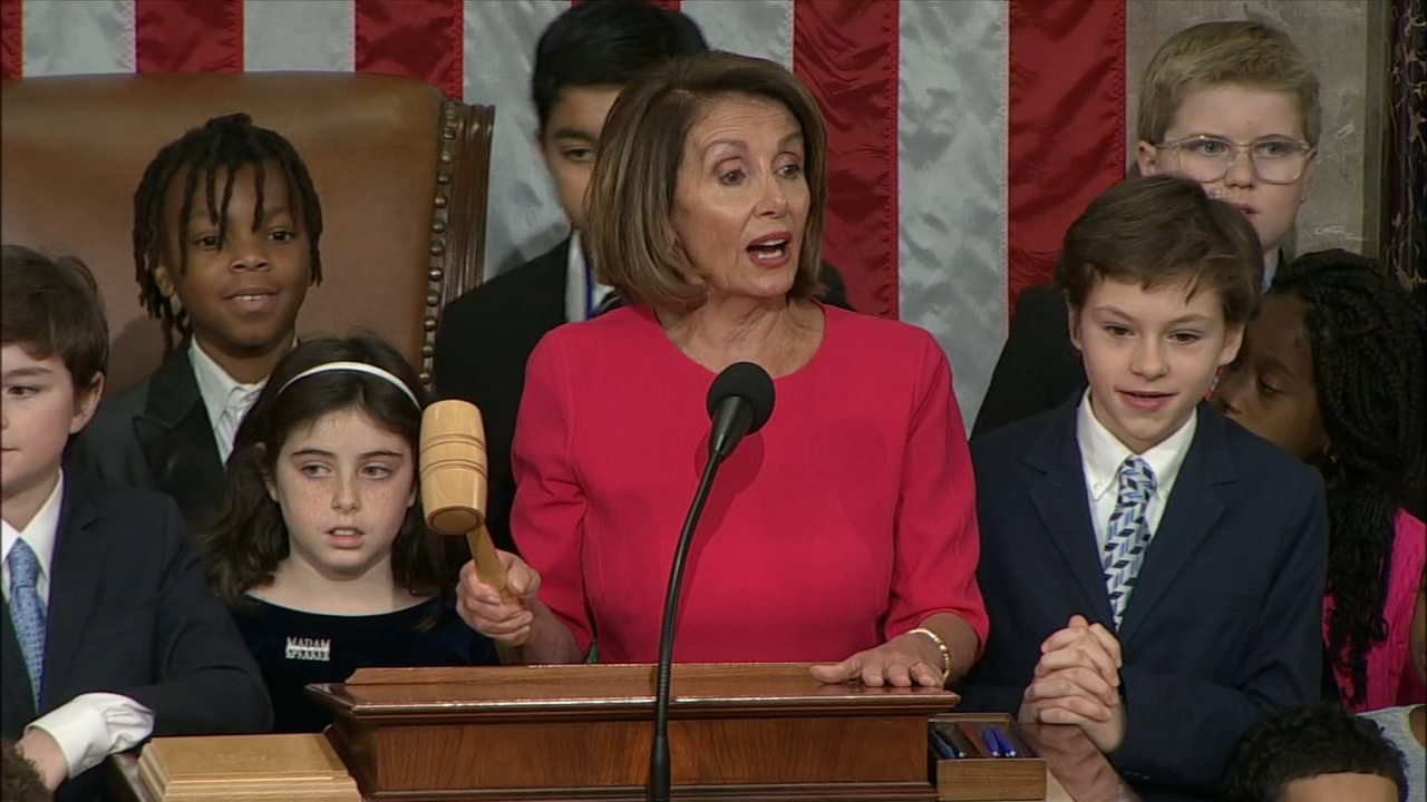 Nancy Pelosi sworn in as Speaker of the House - ABCs Kenneth Moton reports during Action News at 4pm on January 3, 2019.