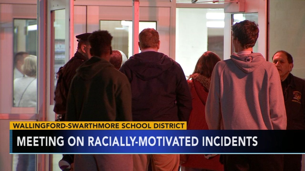 Wallingford-Swarthmore holds meeting on racially-motivated incidents. Tamala Edwards reports during Action News Mornings on January 3, 2019.