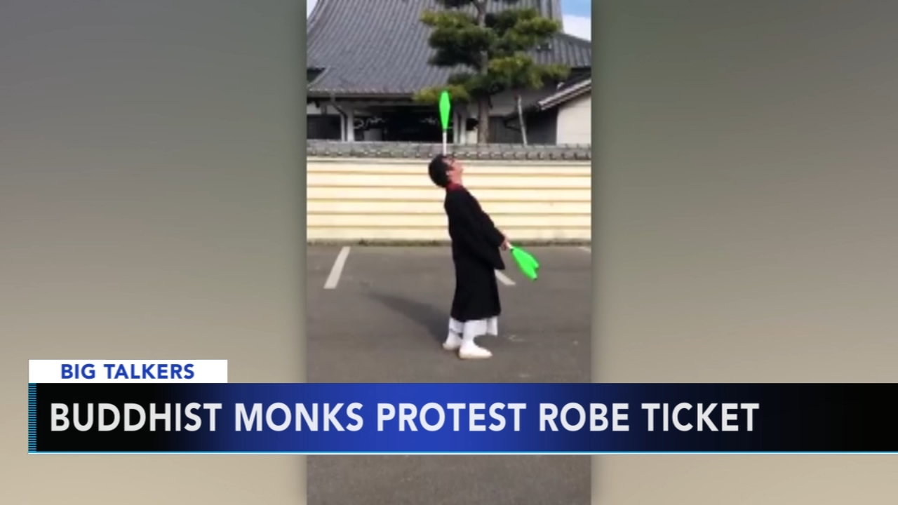 Monks post videos on social media to protest fine for driving in robes. Alicia Vitarelli reports during Action News at 4 p.m. on January 4, 2019.