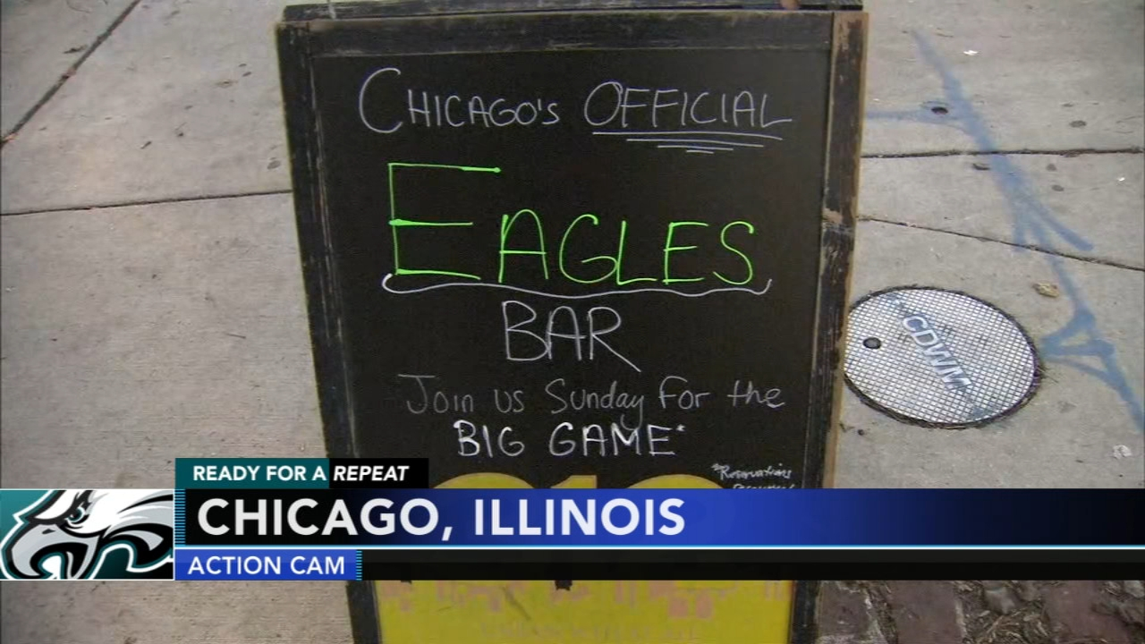 Chicago bar ready to welcome Eagles fans!  Ducis Rodgers paid a visit during Action News at 4pm on January 4, 2019.