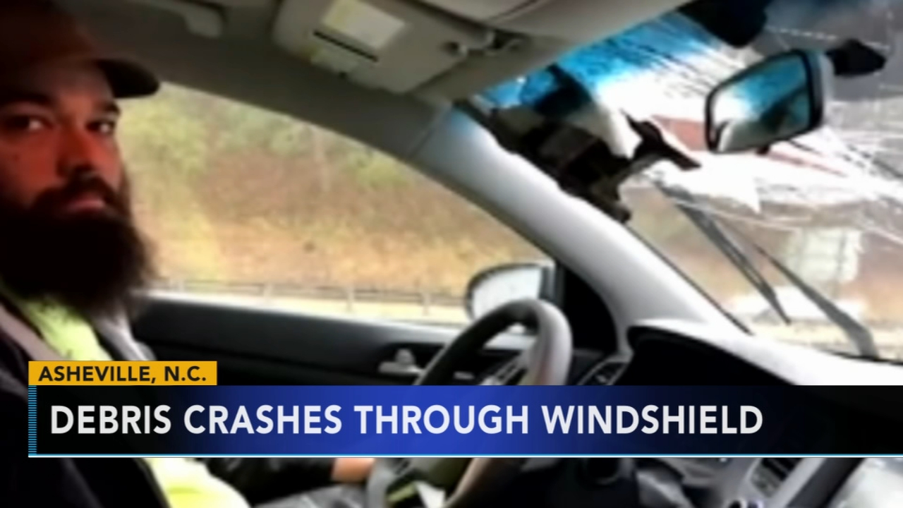 North Carolina man nearly killed after debris crashes through car windshield. Brian Taff reports during Action News at 4 p.m. on January 4, 2019.